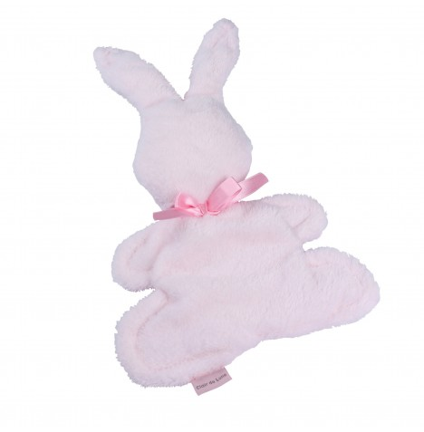 Clair de Lune Mine to Keep Plush Bunny Comforter - Pink
